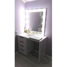 Masa alba toaleta cu sertare cosmetica machiaj oglinda M 6
