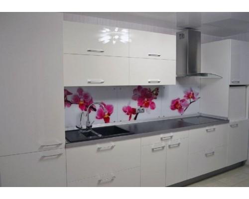 Кухня белая глянцевая фасады МДФ Модель M-55