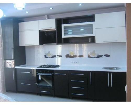 Кухня черно-белая фасады МДФ Модель M-41