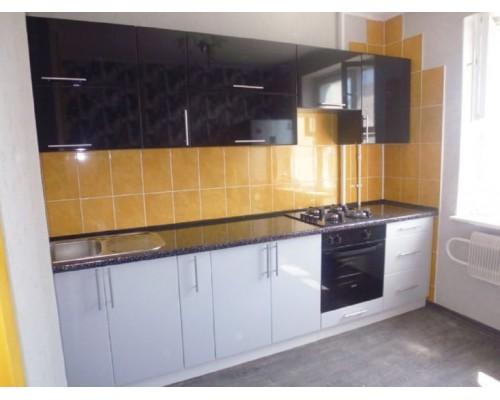 Кухня черно-белая фасады МДФ Модель M-44