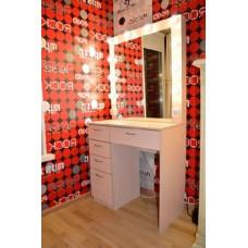 Туалетный столик с зеркалом и освещением М-19
