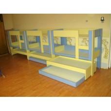 Кровать выкатная 3х ярусная на заказ М-9