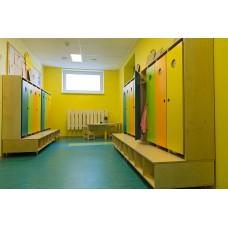 Мебель для раздевалки в детском саду М-10