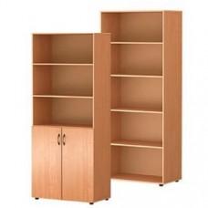 Шкаф стандартный с открытыми полками для папок и документов М-3