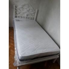 Кованая кровать Снежка М-22