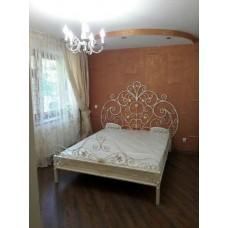 Кровать кованая белая М-01