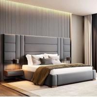 Мягкая двуспальная кровать М-16